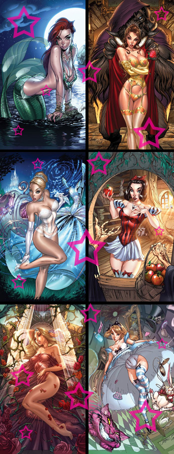 Disney princesses as sexy vixens! Go J. Scott Campbell and the power of the ...